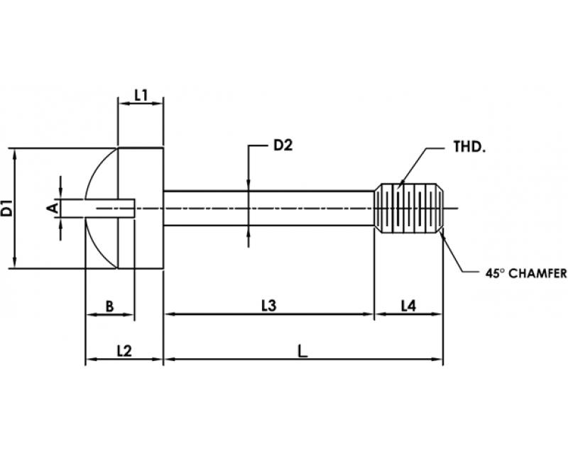 CAPTIVE PANEL SCREW STYLE 4 Metric Standard