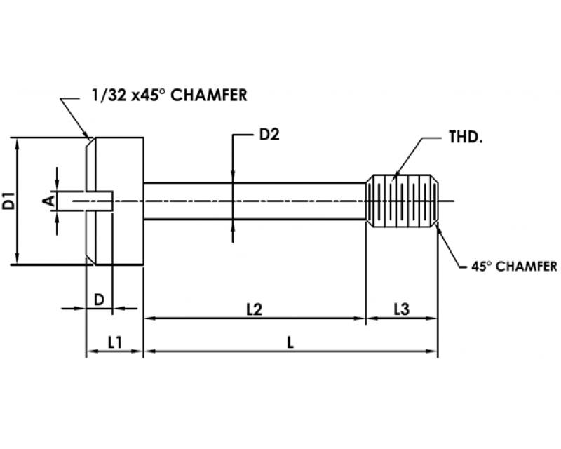 CAPTIVE PANEL SCREW STYLE 6 Metric Standard