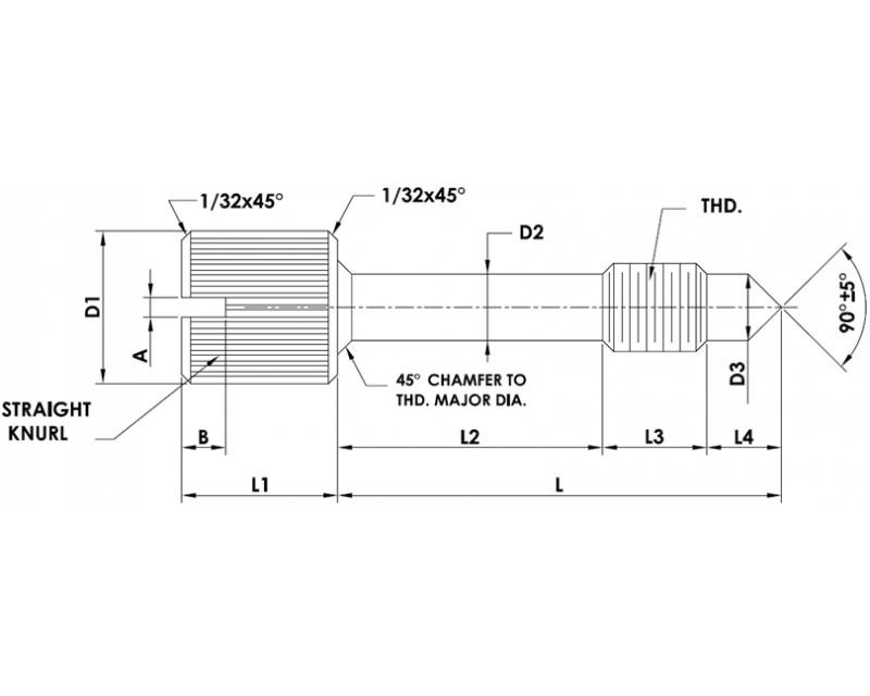 CAPTIVE PANEL SCREW STYLE 2 Metric Standard