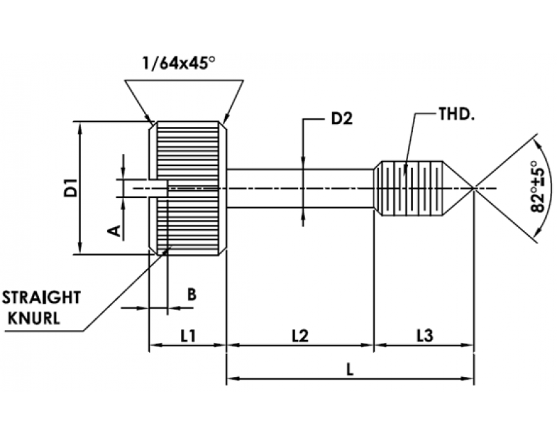 CAPTIVE PANEL SCREW STYLE 1 Metric Standard