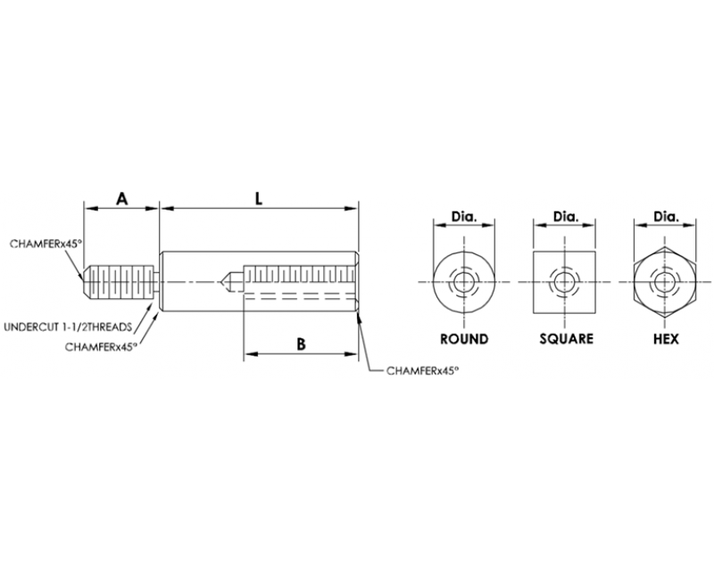 5mm Diameter Male-Female Standoffs