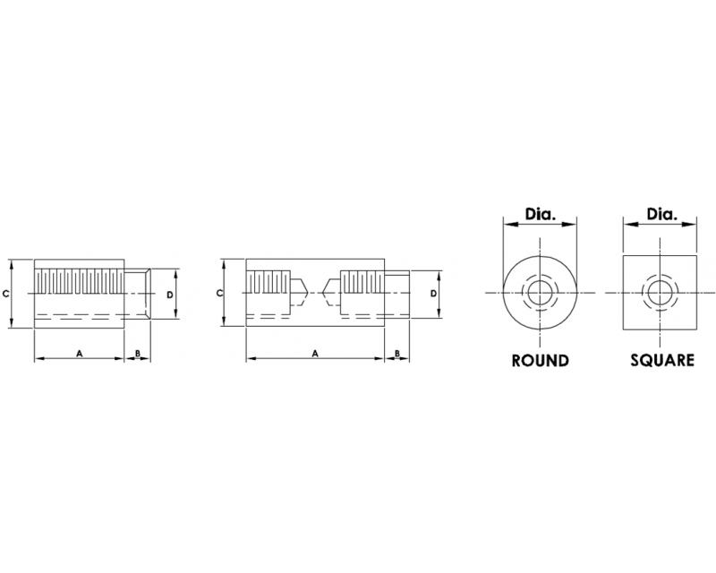 5mm Diameter Swage Standoffs
