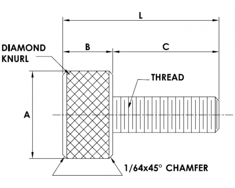 PLAIN THUMB SCREWS American Standard