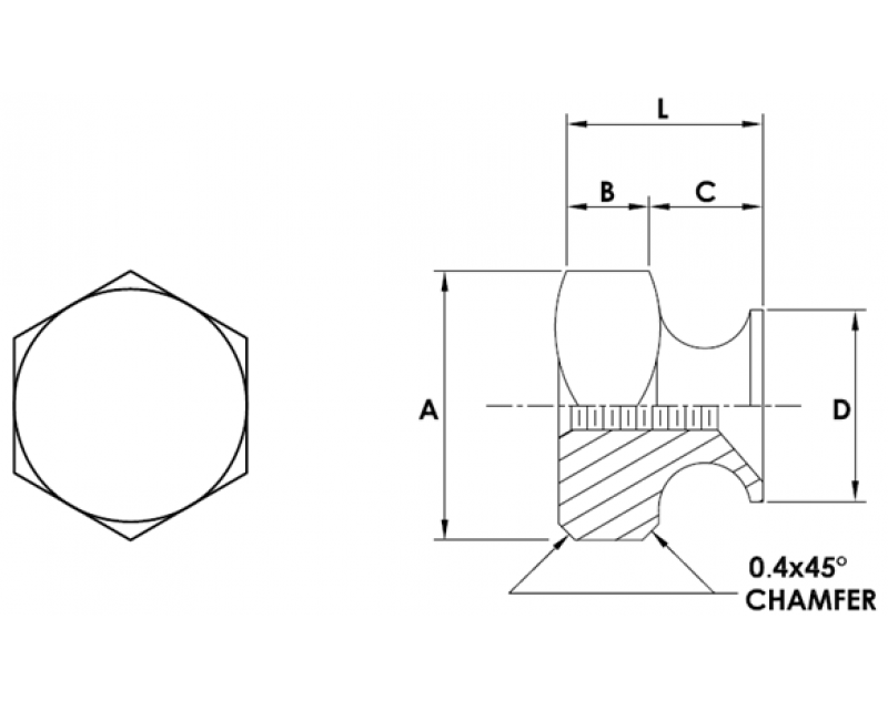 HEX THUMB NUTS  Metric Standard