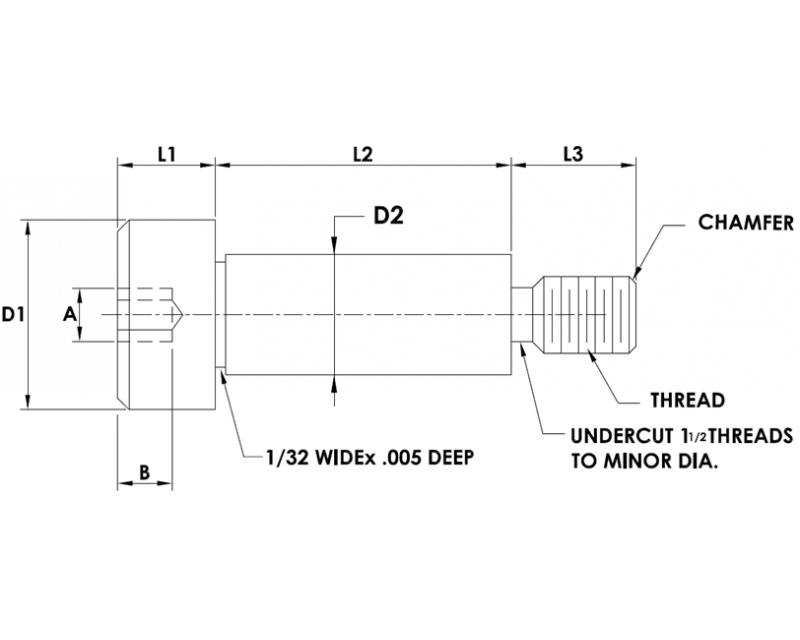 PRECISION SHOULDER SCREWS SOCKET HEAD Metric Standard