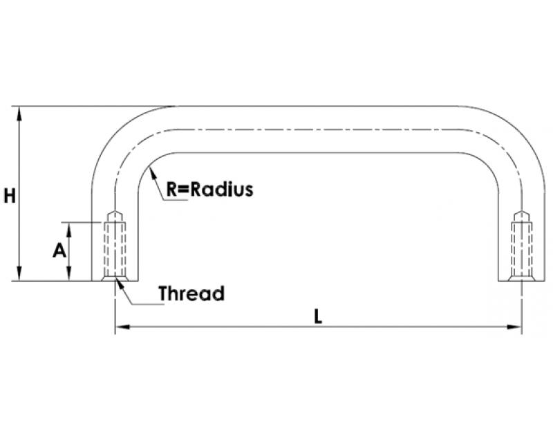 ROUND HANDLES INTERNAL THREAD(mm)