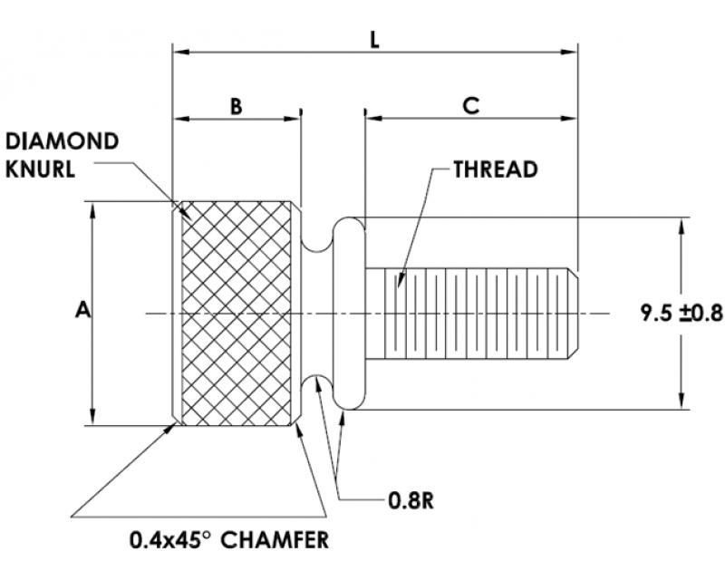 WASHER FACE THUMB SCREW Metric Standard