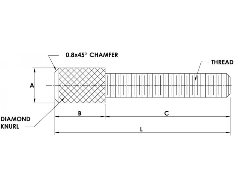 PUSH TYPE THUMB SCREWS  Metric Standard